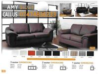 Amy 3+2 and corner sofa suite A