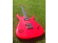 Neko Claymore baritone 6 String electric guitar with Hipshot hardware. Similar to ESP LTD, Ibanez