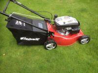 Self propelled Einhell lawn mower used once still have box
