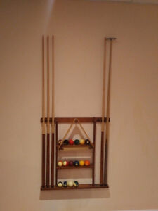 Pool Table and accessories 8' X 5""
