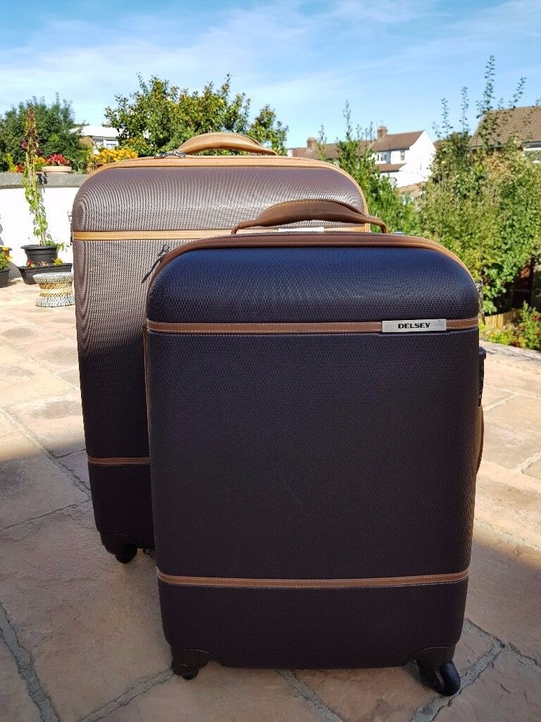 Delsey All Around Hardshell / Leather luggage set - Still under warranty