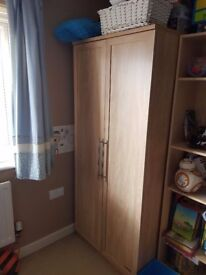 Mamas and papas wardrobe and chest of drawers with changer top