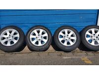Peugeot Genuine 15 alloy wheels + 4 x tyres 195 65 15