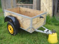 Small wooden trailer