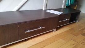 Matching tv unit and coffee table in excellent condition.