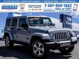 2016 Jeep WRANGLER UNLIMITED **Sahara Edition!  Low kms!**