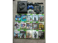 XBOX 360 ELITE 120GB PAL BUNDLE HDMI WITH 15 GAMES+2 CONTROLLERS