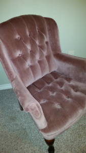 Wing Chair - Rose Coloured