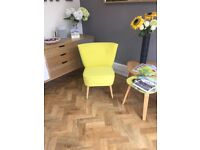 Vintage style lime /yellow chair unused