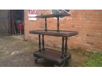 Desert trolley ideal for upcycling and use with a barbecue, or for a display stand.