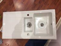 Howdens 1.5 bowl ceramic sink
