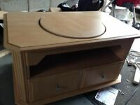 Wooden tv swivel stand