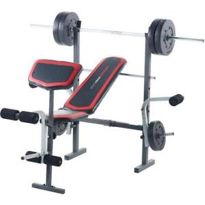 WEIDER PRO 256 WEIGHT BENCH WITH EXTRAS