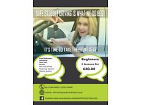Pass your driving test Beginners first 4 hours £40, safely and quickly