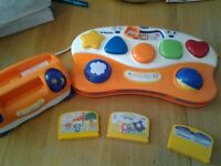 VTech baby smile console with 3 games