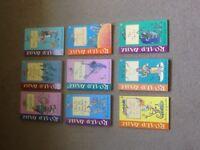 Set of nine Roald Dahl books