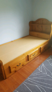 Twin Bed - Solid Wood