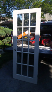 Antique 15 Pane Glass Door