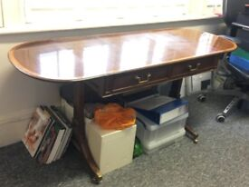 Drop-leaf side/writing table - reproduction