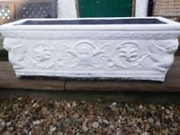 Large Stone Effect Garden Planter 71 cm x 23 cm Decorative All Weathers