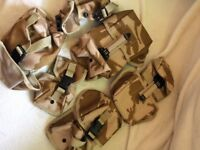 6 Army combat desert pouches
