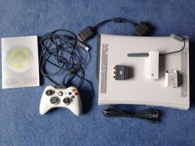 Xbox 360 60GB with 5 games and controller/charge kit/WiFi connector