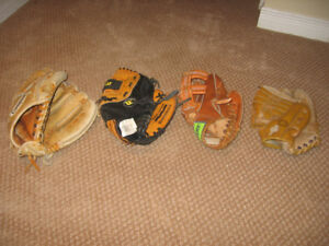Selection of Leather BaseBall Gloves - Buy one ($5) or all ($20)