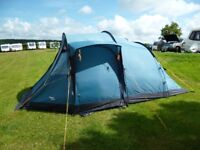Vango Tigris 4 person Tent. Only used for 4 short holidays.