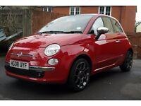 Fiat 500 1.3 Diesel, Full Black Leather, 31000 Miles, Service & MOT, Alloys