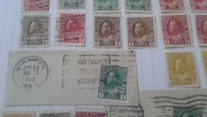 Mint and used admiral canadian stamps.