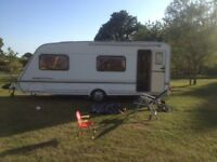Abbey Expression 6 berth single axle fixed bunk caravan