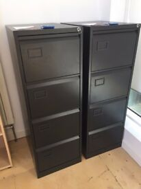 Filing Cabinet - Black Excellent Condition (as new)