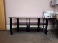 Black glass tv stand great condition
