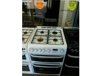 CANNON 60CM GAS DOUBLE OVEN COOKER IN WHITE