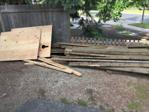Free Reno materials 2x6 PT Plywood mirrored doors