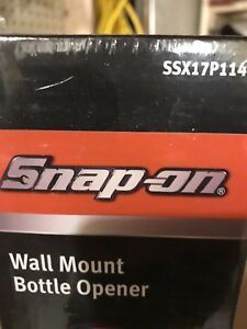 Snap on wall mount bottle opener