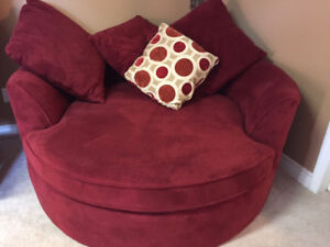 Red Round Comfy Chair