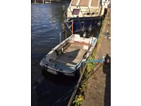 11ft Dory boat with mooring and Thames river licence