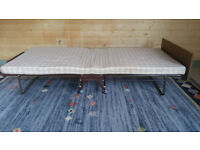 Folding full-size single bed. Ideal for occasional use or where space is limited
