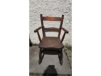 Small wooden chair - Good condition very sturdy