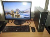 HP Compaq Elite 8200 Core i5 Desktop PC with 22in Monitor Full Setup