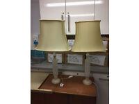2 VINTAGE 1960.S ALABASTER TABLE LAMPS