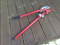 Plumbers stilsons wrench 2ft with pipe benders