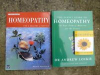 3 Homeopathy books in excellent condition