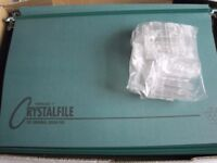 CRYSTALFILE SUSPENSION FILES 50 GREEN NO 78046 NEW WITH TABS/INSERTS