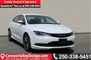 2015 Chrysler 200 S ONE OWNER, LOW KILOMETER, KEYLESS ENTRY,...