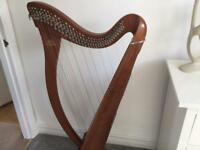 Camac Hermine 34 String Lever Harp in Walnut - Clarsach - With case and extras