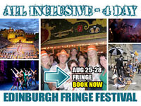 All Inclusive Bank Holiday Luxury Edinburgh Fringe City Break