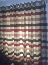 Curtains plus head rails: Marks and Spencer, good condition