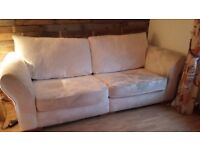 2 piece sofa light beige FREE of charge